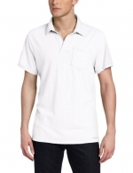 Calvin Klein Jeans Men's Solid Short Sleeve Polo, White, Small