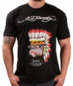 Ed Hardy By Christian Audigier Bulldog Chief Men's T-Shirt Crewneck Tee Size M