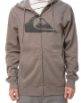 Quiksilver Men's Falkor Full Zip Long Sleeve Hoodie Smoke Gray-Small