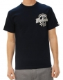 Metal Mulisha Men's Grind Tee Graphic T-Shirt Navy Blue with White-Large