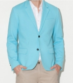 G by GUESS Julian Blazer, BLUE JAY (XS)