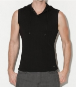 G by GUESS Darryn Sleeveless Hoodie, JET BLACK (XS)