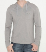 G by GUESS Greggs Long-Sleeve Hoodie, FROST GREY (SMALL)