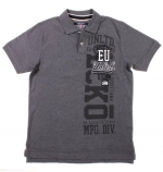 Ecko Unltd. Trade Mark Numeral Mens Polo Shirt (Charcoal Heather Gray, Medium)