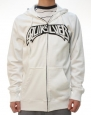 Quiksilver Men's Maverick Full Zip Long Sleeve Hoodie White-Medium