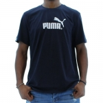 Puma Logo Men's T-Shirt Tee Shirt Blue Size XL