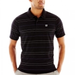 DC - Mens Waited Polo Shirt, Size: Large, Color: Black
