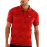 DC - Mens Waited Polo Shirt, Size: Small, Color: Red