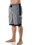 Alki'i Men's Boardshorts - Solid Colors Team USA, Small, Cool Grey