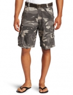 Lee Men's Dungarees Belted Wyoming Cargo Short, Ash Camo, 29