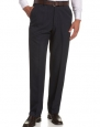 Haggar Men's Cool 18 Heather Gabardine Plain Front Pant,Navy,30x30