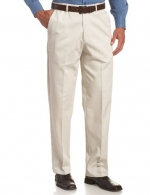 Haggar Men's Work To Weekend  Hidden Expandable Waist No Iron Twill Plain Front Pant, String, 30x30