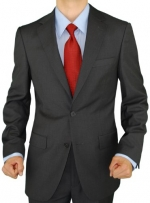 Presidential Blazer Two Button Mens Business Suit Jacket Only (38 Short, Charcoal)
