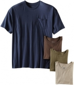 Fruit of the Loom Men's Big Super Soft 4 Pack Pocket T-Shirt, Assorted, XX-Large