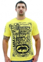 Ecko Unltd. MMA Break Through Men's T-Shirt Tee Shirt Yellow Size XXXL