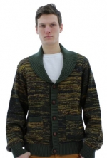JACHS Just a Cheap Shirt Lorenzo Men's Sweater Cardigan Green Size XL