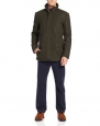 Kenneth Cole Reaction Men's Heathered Wool Barn Jacket, Seaweed, Large