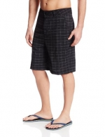 Kanu Surf Men's Highline Stretch Hybrid Boardshort, Black, 32