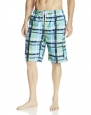 Kanu Surf Men's Contender Swim Trunk, Aqua, Large