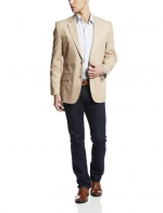Jones New York Men's Sport Coat, Khaki, 44 Short
