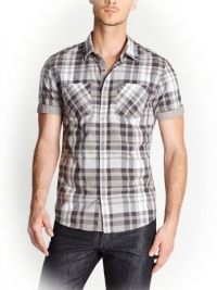 G by GUESS Men's Gower Shirt, FROST GREY (SMALL)