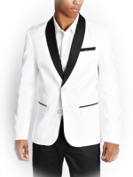 G by GUESS Men's Gallant Stretch Blazer, TRUE WHITE (XS)