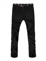 Allegra K Trendy Mens Pants Casual Zip Up Pants Straight Trousers