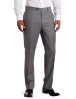 Tommy Hilfiger Mens Flat Front Trim Fit 100% Wool Suit Separate Pant, Grey Solid, 29W x 30L