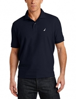 Nautica Men's Short-Sleeve Solid Deck Polo Shirt, Navy, Small