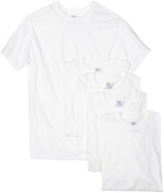 Fruit of the Loom Men's 5-Pack Crew Neck T-shirt, White, Large