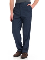 Haggar Men's Cool 18 Flat Front Pants - Heather Blue, Heather Blue, 30X30