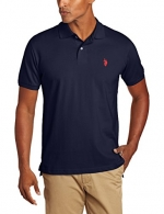 U.S. Polo Assn. Men's Solid Polo With Small Pony, Classic Navy, Small