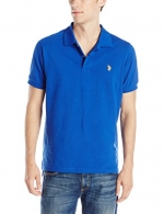 U.S. Polo Assn. Men's Solid Polo With Small Pony, Cobalt Blue, Small