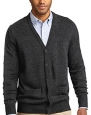 Port Authority Men's V-Neck Cardigan with Pockets_Charcoal Grey_X-Small