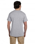 Fruit of the Loom Men's 6-Pack Stay Tucked Crew T-Shirt - Athletic Heather - Small